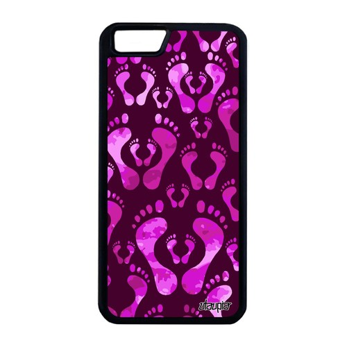 coque pour iphone 6 6s plus silicone pied 16 go trace de pas rose imprime apple iphone 6 plus. Black Bedroom Furniture Sets. Home Design Ideas