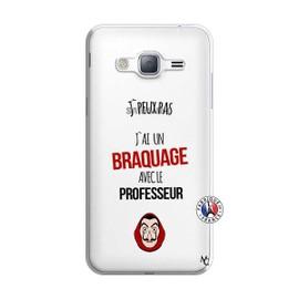 Coque pour Samsung Galaxy J3 2016 motif J Peux Pas J Ai Un Braquage Avec Le Professeur
