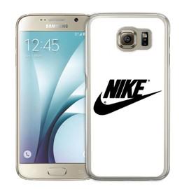 Coque pour Samsung Galaxy S6 Edge nike logo blanc