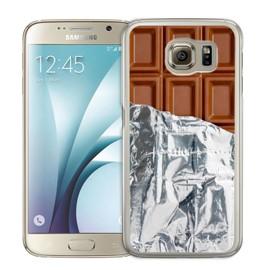 Coque pour Samsung Galaxy S6 tablette chocolat alu