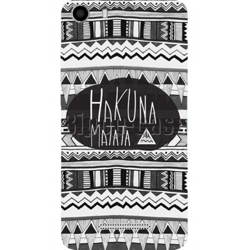 coque protection telephone wiko lenny 2 hakuna matata azteque noir. Black Bedroom Furniture Sets. Home Design Ideas