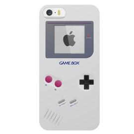 Coque rigide aspect console de jeux blanche GameBox pour iPhone5s