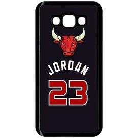 Coque pour smartphone - Chicago jordan 23 - compatible avec samsung Galaxy A8 - Plastique - bord Noir