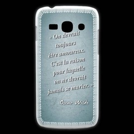 Coque Samsung Galaxy Ace3 Toujours Amoureux Turquoise Citation Oscar Wilde