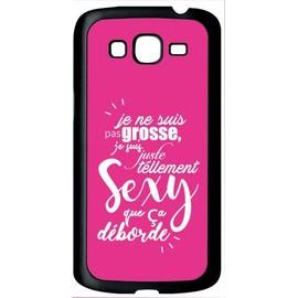 Coque pour smartphone - Je ne suis pas grosse fond rose fushia ...
