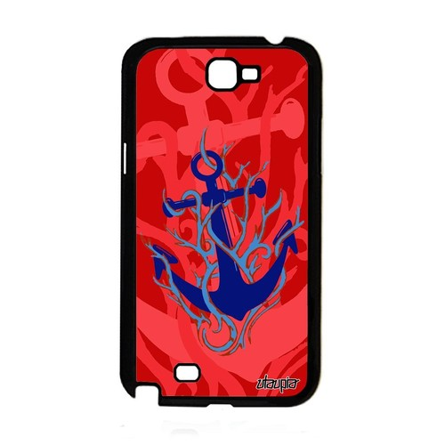 0fd8b566d21 Coque Silicone Pour Galaxy Note 2 Ancre Telephone Etui Old School Rouge  Samsung Galaxy Note 2