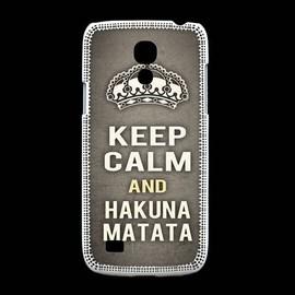 Coque Samsung Galaxy S4mini Keep Calm And Hakuna Matata Gris