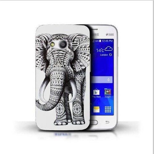 coque samsung galaxy trend 2 lite silicone motif elephant azteque. Black Bedroom Furniture Sets. Home Design Ideas