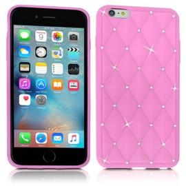 Coque Silicone Diamant Rose Pâle pour Apple iPhone 6 Plus, iPhone 6S Plus