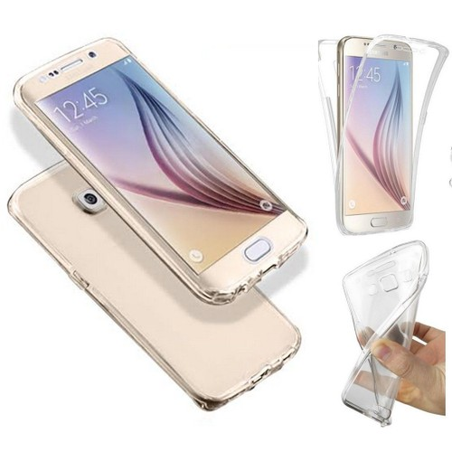 Coque Silicone Gel Intégral Samsung Galaxy S6 Edge Plus Or pas cher