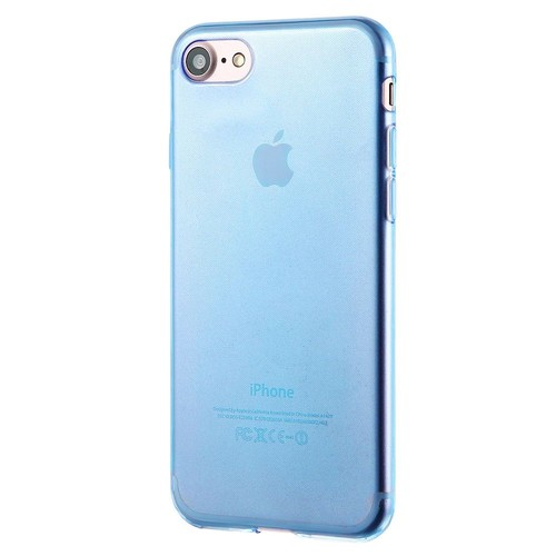 iphone 7 coque silicone bleu