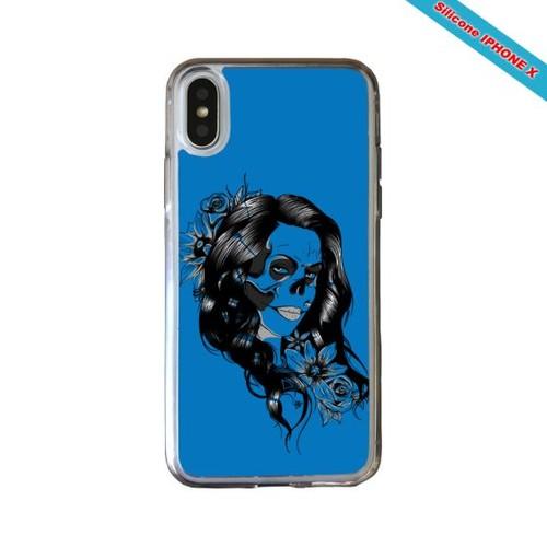 coque silicone iphone x skull