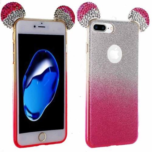 coque iphone 7 plus rose paillette