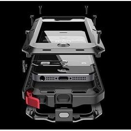 Coque [Solide, Robuste et Rigide] Iphone 6/6s antichoc Armor [Ecran de Protection en Verre Trempé], Silicone Aluminium et Metal la plus dure jamais ...