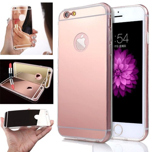 coque souple iphone 5 5s se miroir rose or brillant bling dore gel. Black Bedroom Furniture Sets. Home Design Ideas
