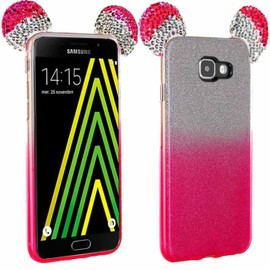 Coque Strass Paillettes Oreilles Mickey Rose pour Samsung Galaxy A5 (2016)
