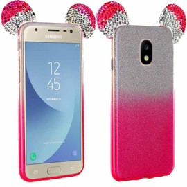 Coque Strass Paillettes Oreilles Mickey Rose pour Samsung Galaxy ...