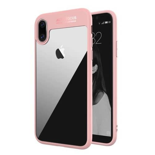 coque antichoc iphone x rose