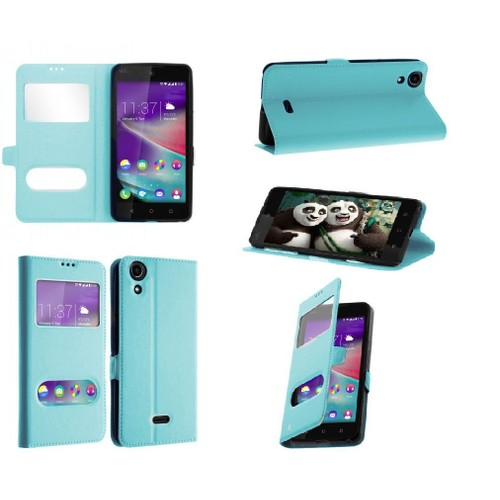 Coque wiko lenny 2 housse tui double fen tre ultra for Housse wiko lenny 2