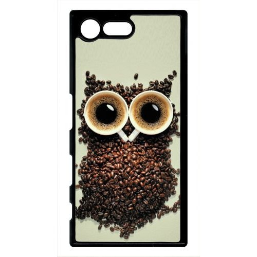 coque xperia x compact mini hibou grains de caf pas cher. Black Bedroom Furniture Sets. Home Design Ideas