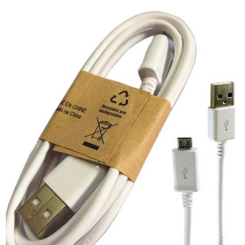 cordon d 39 alimentation blanc original cable de chargement chargeur micro usb data d 39 origine. Black Bedroom Furniture Sets. Home Design Ideas