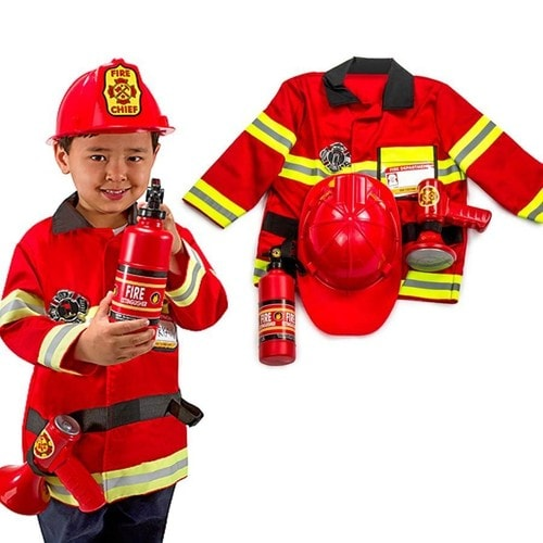 costume d guisement pompier casque haut parleur instincteur enfants 3 6 ans. Black Bedroom Furniture Sets. Home Design Ideas