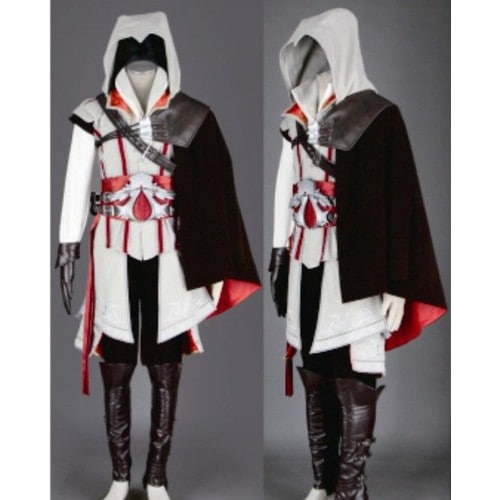 coton cuir style assassin creed ezio cosplay costume compelet luxe. Black Bedroom Furniture Sets. Home Design Ideas