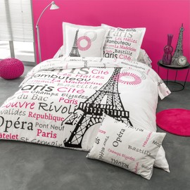 cotonflor french housse de couette rose achat et vente. Black Bedroom Furniture Sets. Home Design Ideas
