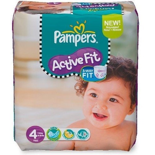 Couches active fit taille 4 maxi 7 18 kg pack - Couches pampers active fit taille 4 giga pack ...