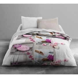 couette imprim e today relax flower 220x240 polyester achat et vente. Black Bedroom Furniture Sets. Home Design Ideas