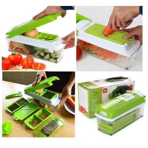 Coupe l gumes et fruits nicer dicer 12 accessoires pour - Decoupe legumes coupe legumes oignons et fruits ...