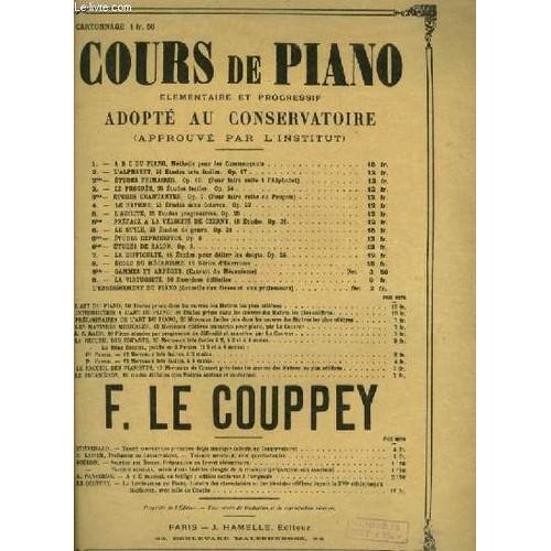 cours de piano n 1 a b c du piano methode pour les commencants de le couppey felix. Black Bedroom Furniture Sets. Home Design Ideas