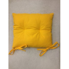 Coussin De Chaise 40x40 Haute Qualit 840gr Made In France Belle Tenue Couleur Jaune