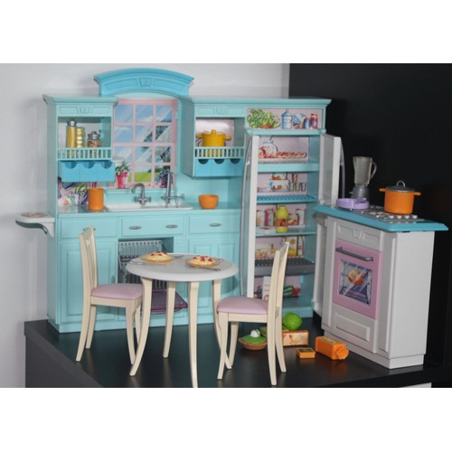 cuisine barbie quip e poup e barbie achat et vente. Black Bedroom Furniture Sets. Home Design Ideas