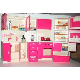 cuisine pour poup e mannequin barbie achat et vente. Black Bedroom Furniture Sets. Home Design Ideas