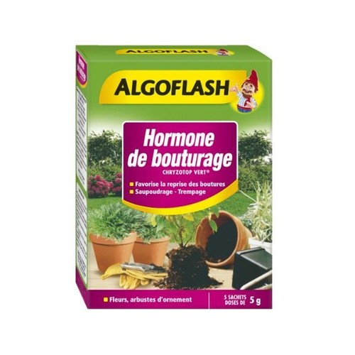 Culture interieur indoor hormone de bouturage algoflash 5 x 5 grammes - Hormone de bouturage ...