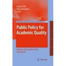 Public Policy For Academic Quality de David D. Dill