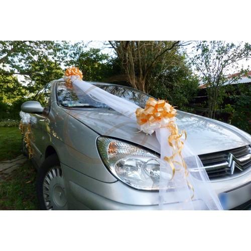 Decoration voiture mariage elegance 009 achat et vente rakuten - Decoration vehicule mariage ...