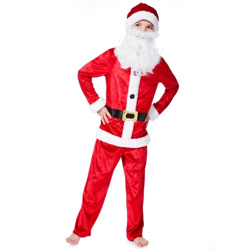 deguisement costume pere noel taille 3 4 ans reveillon complet barbe. Black Bedroom Furniture Sets. Home Design Ideas