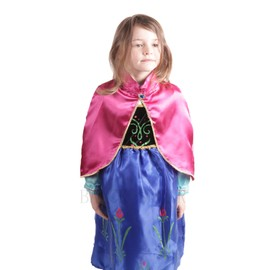 d guisement costume robe cape rose reine des neiges frozen anna enfant 3 8 ans pour. Black Bedroom Furniture Sets. Home Design Ideas