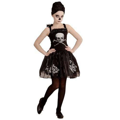 62dc5a30f9c4d Déguisement Danseuse Ballerine Squelette Noire Fille Halloween 8 À 10 Ans