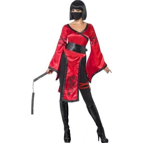3ad9bfc1ff8522 Déguisement Guerrière Ninja Femme, Taille Small