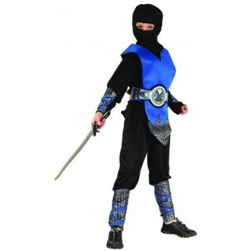 d guisement ninja bleu gar on taille 10 12 ans l. Black Bedroom Furniture Sets. Home Design Ideas