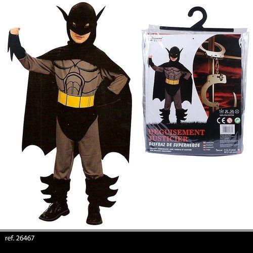 deguisement pour enfant garcon justicier 7 10 ans costume de batman ref 71. Black Bedroom Furniture Sets. Home Design Ideas