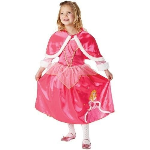 deguisement princesse aurore belle au bois dormant disney cape 5 6 ans luxe. Black Bedroom Furniture Sets. Home Design Ideas