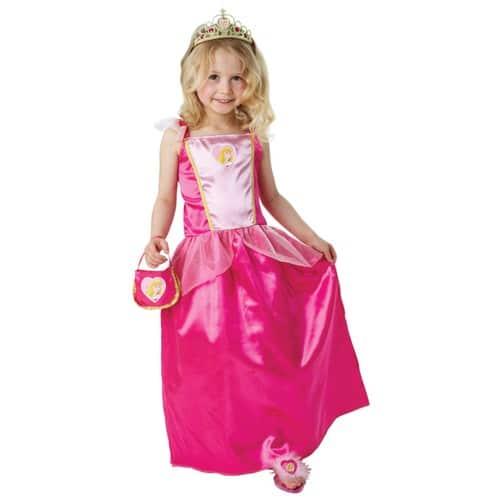 deguisement princesse aurore belle bois dormant disney 7 8 ans diademe sac mules. Black Bedroom Furniture Sets. Home Design Ideas