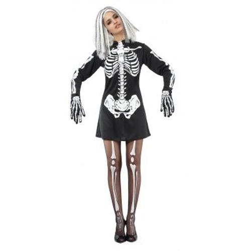 d guisement squelette femme halloween taille unique achat et vente. Black Bedroom Furniture Sets. Home Design Ideas