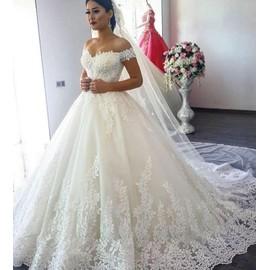 Robe de mariee de princesse de luxe
