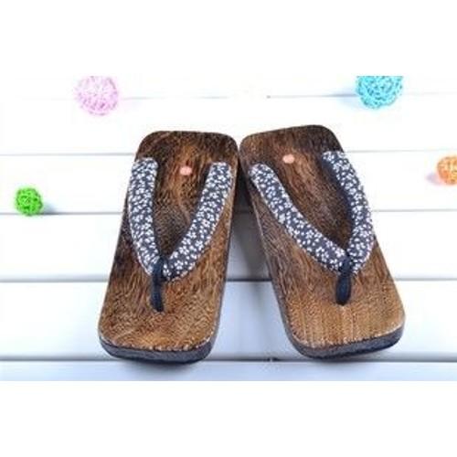 d part imm diat chaussure sandale geta plat homme japonais. Black Bedroom Furniture Sets. Home Design Ideas