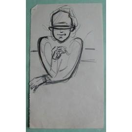 Caricature Homme dessin original caricature homme vers 10930 - neuf et d'occasion